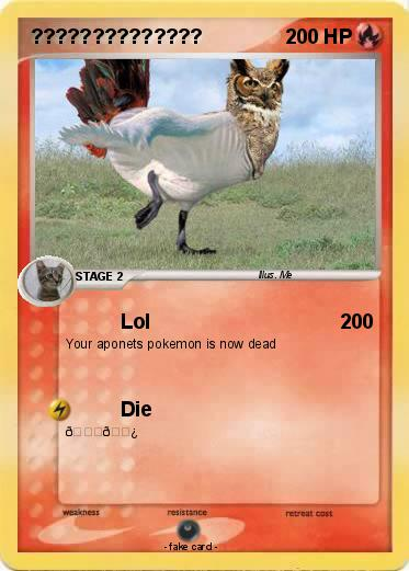Pokmon 1 76867 Lol My Pokemon Card