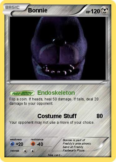 Pok 233 mon bonnie 66 66 endoskeleton my pokemon card