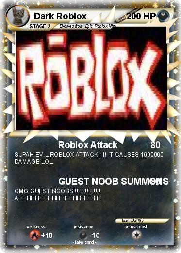 Pok 233 Mon Dark Roblox Roblox Attack My Pokemon Card