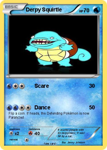 Pok mon derpy squirtle 1 1 scare my pokemon card - Derpy squirtle ...