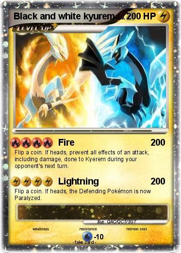 White Kyurem Ex Card Pok�mon black and white kyurem 10 10 - fire - my pokemon card