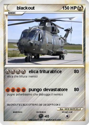 Elicottero Yoshi : Pokémon blackout elica trituratrice my pokemon card