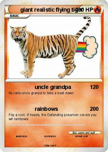 Pok 233 Mon Giant Realistic Flying Tiger 4 4 Uncle Grandpa