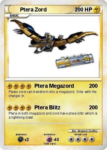 Pok mon ptera zord 1 1 ptera megazord my pokemon card - Pokemon ptera ...