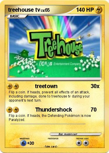 Pok 233 Mon Treehouse Tv 1 1 Treetown My Pokemon Card