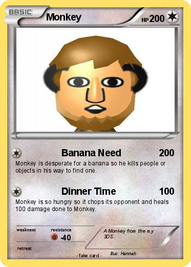 Pok 233 mon monkey 1443 1443 banana need my pokemon card