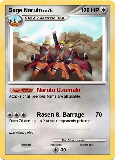 naruto sage mode kyuubi. Pokemon Sage Naruto