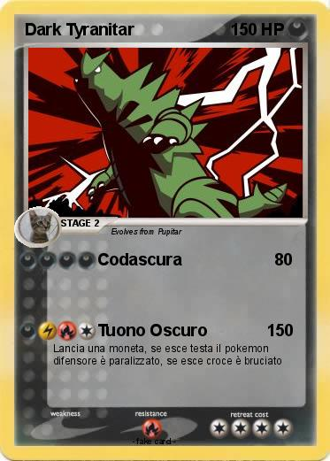 Pokémon Dark Tyranitar 30 30 - Codascura - My Pokemon Card