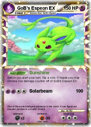 Pokmon GoB S Espeon EX Sunshine My Pokemon Card