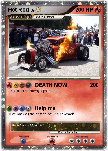 Pok mon Hot Rod 51 51 DEATH NOW My Pokemon Card
