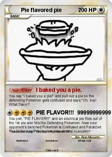 Pie flavored