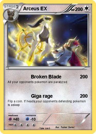 Pok mon arceus ex 422 422 broken blade my pokemon card - Pokemon arceus ex ...