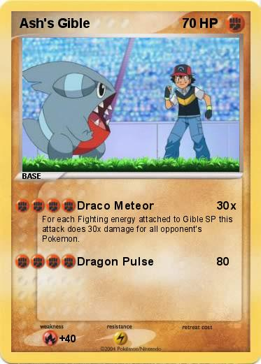 Pokémon Ash s Gible 1 1 - Draco Meteor - My Pokemon Card