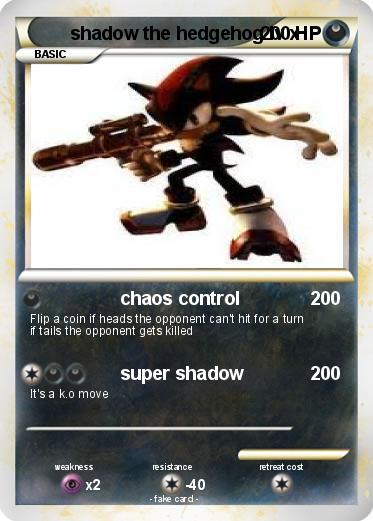 Pok mon shadow the hedgehog lv x 1 1 chaos control my - Shadow the hedgehog pokemon ...