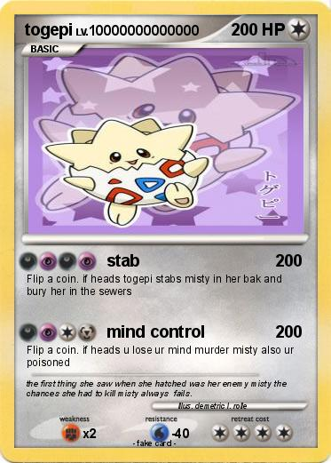 pok233mon togepi 94 94 stab my pokemon card