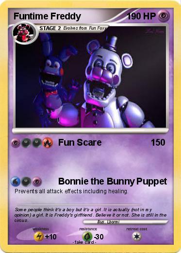 Pok 233 Mon Funtime Freddy 14 14 Fun Scare My Pokemon Card