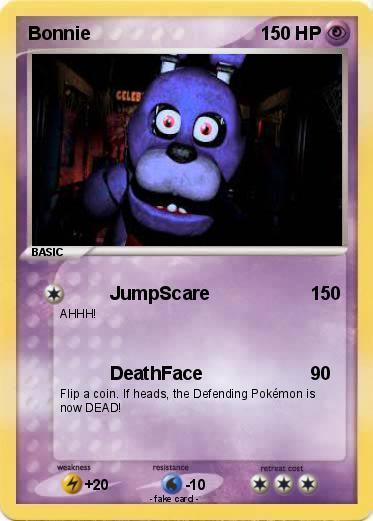 Pok 233 mon bonnie 1045 1045 jumpscare my pokemon card
