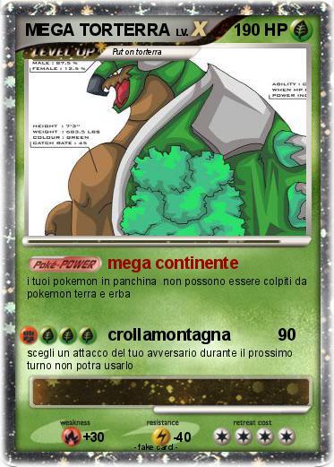 Pokémon MEGA TORTERRA 1 1 - mega continente - My Pokemon Card