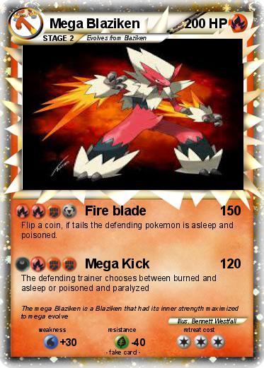Blaziken mega evolution card