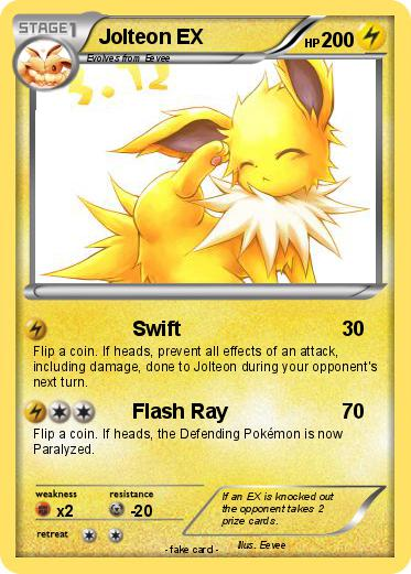 Pokémon Jolteon EX 37 37 - Swift - My Pokemon Card