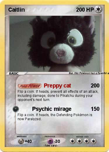 Pokémon Caitlin 41 41 - Preppy cat - My Pokemon Card