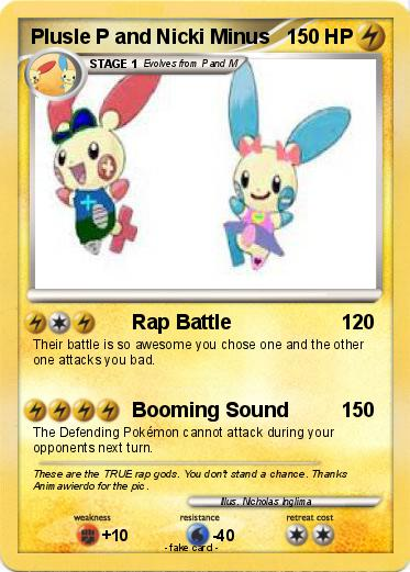 Pokemon Plusle P and Nicki Minus