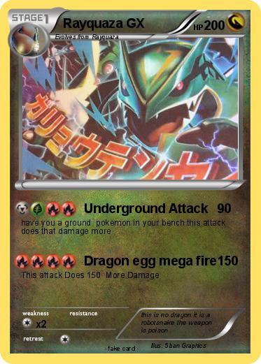 Pokemon Rayquaza GX