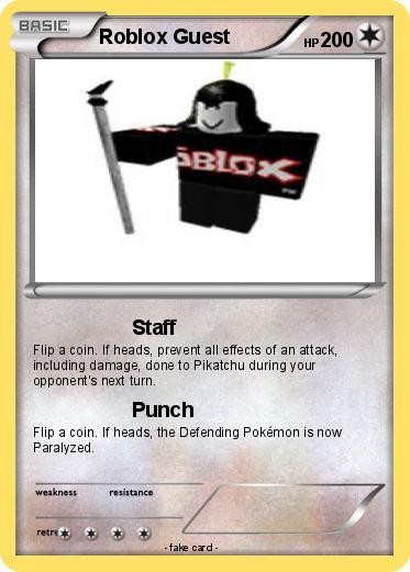 Pokémon Roblox Guest 9 9 - Staff - My Pokemon Card