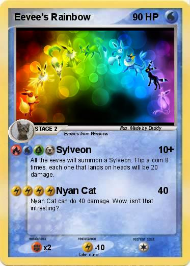 Pokemon Eevee Sylveon Card Pokémon Eevee s R...
