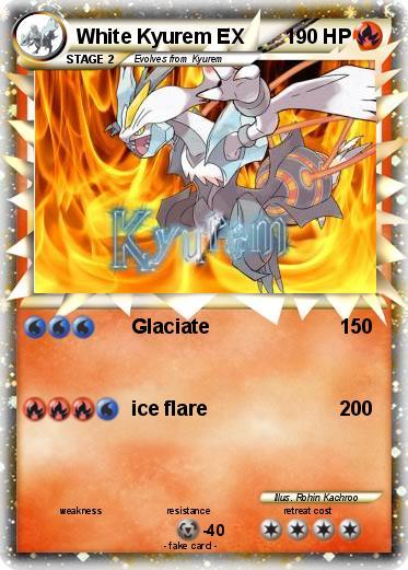 White Kyurem Ex Card Pokemon white kyurem ex