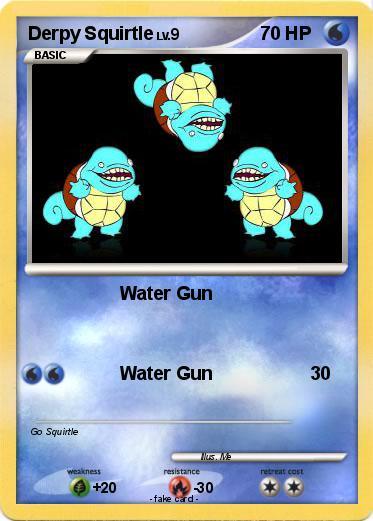 Pok mon derpy squirtle 6 6 water gun my pokemon card - Derpy squirtle ...