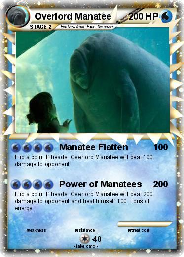 pok233mon overlord manatee manatee flatten my pokemon card