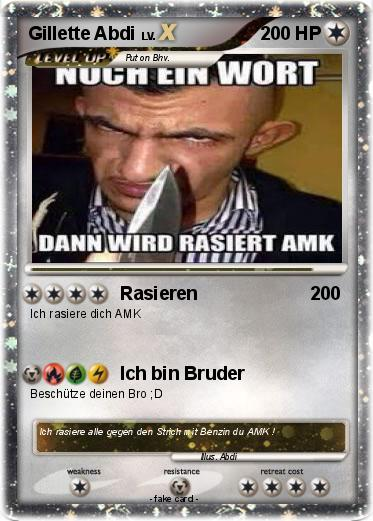 Pokémon Gillette Abdi 2 2 - Rasieren - My Pokemon Card