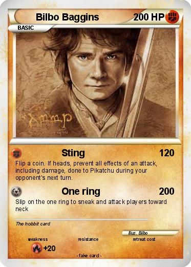 Pokémon Bilbo Baggins 23 23   Sting   My Pokemon Card