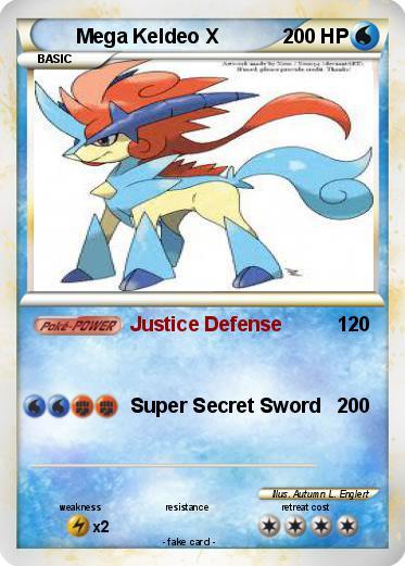 Pokémon Mega Keldeo X - Justice Defense - My Pokemon Card