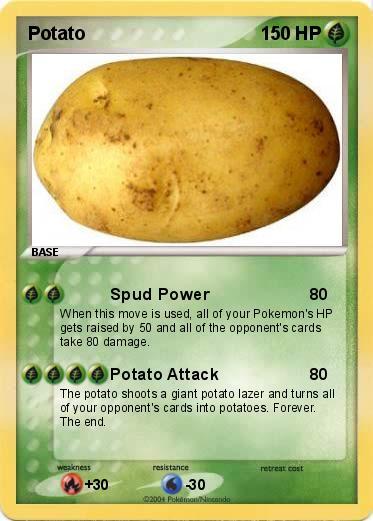 Pok 233 Mon Potato 4 4 Spud Power My Pokemon Card