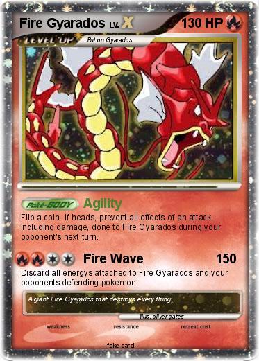 Pokémon Fire Gyarados 2 2 - Agility - My Pokemon Card