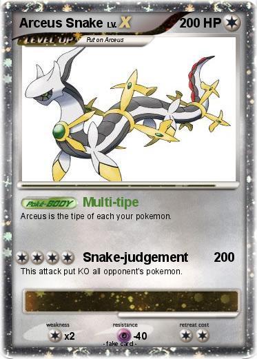 Pokémon Arceus Snake - Multi-tipe - My Pokemon Card