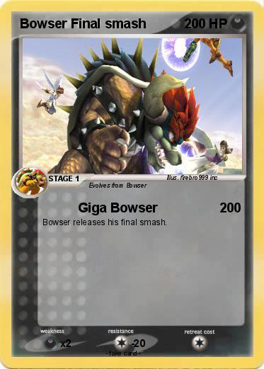 Pokemon Bowser Final smash 1