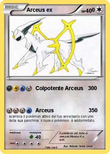 Pok mon arceus ex 441 441 colpotente arceus 300 my pokemon card - Pokemon arceus ex ...