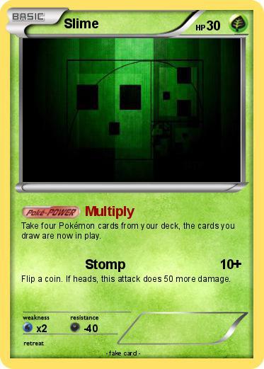 Pokémon Slime 305 305 - Multiply - My Pokemon Card