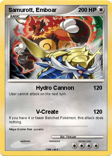 Pokemon Samurott  EmboarEmboar Mega Evolution Card