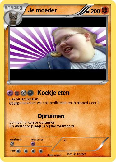 Pok 233 Mon Je Moeder 52 52 Koekje Eten My Pokemon Card