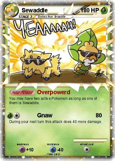 pok233mon sewaddle 25 25 overpowerd my pokemon card