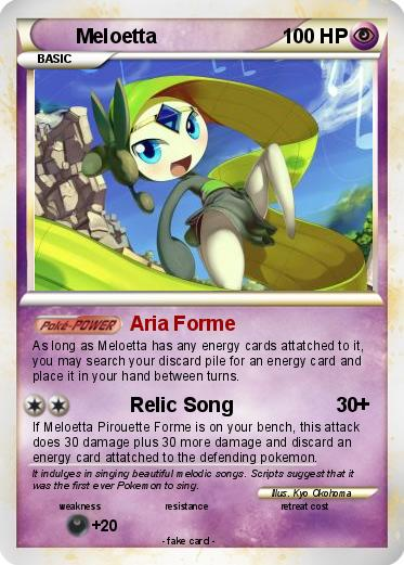 Meloetta Pokemon Card Images | Pokemon Images