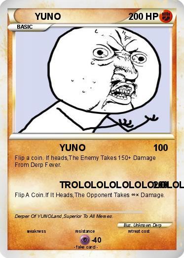 Pokemon YUNO  Y U No Pokemon