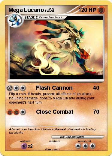 Pokémon Mega Lucario 7 7 - Flash Cannon - My Pokemon Card