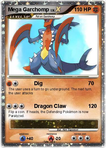 Pokémon Mega Garchomp 20 20 - Dig - My Pokemon Card