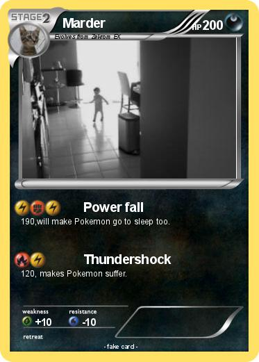 pok mon marder power fall my pokemon card. Black Bedroom Furniture Sets. Home Design Ideas