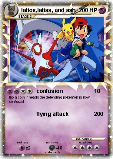 Pokemon ash and latias pokemon latios latias and ash